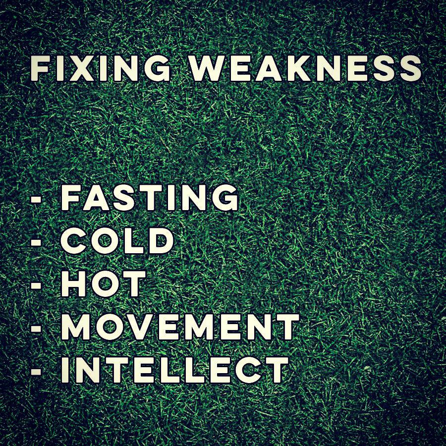 Fixing Weakness