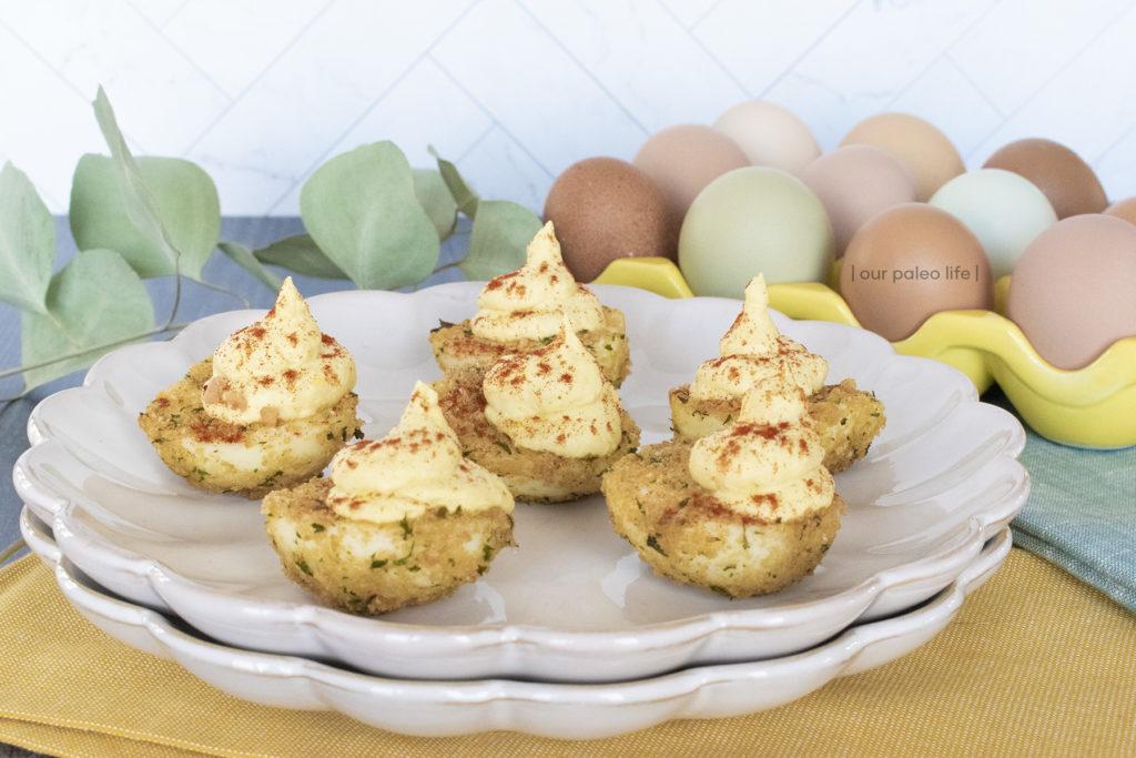 Keto Air-Fried Deviled Eggs