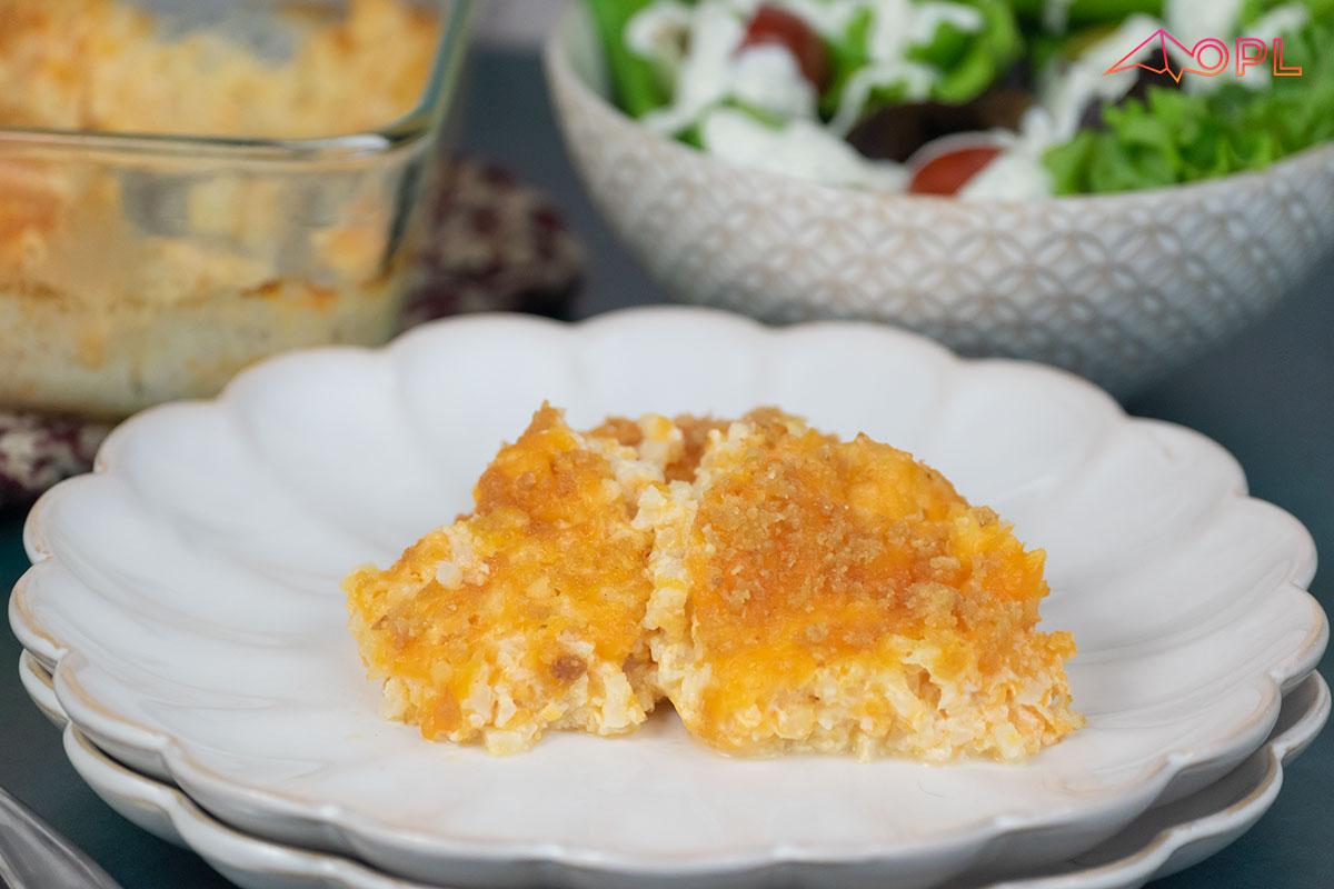 Low-Carb Cauliflower Mac & Cheese Casserole