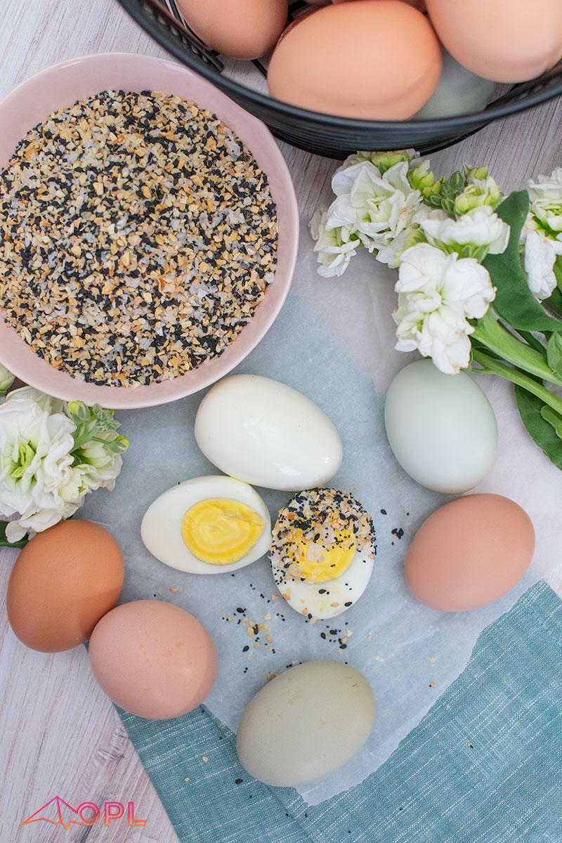 Everything Bagel Hard Boiled Eggs