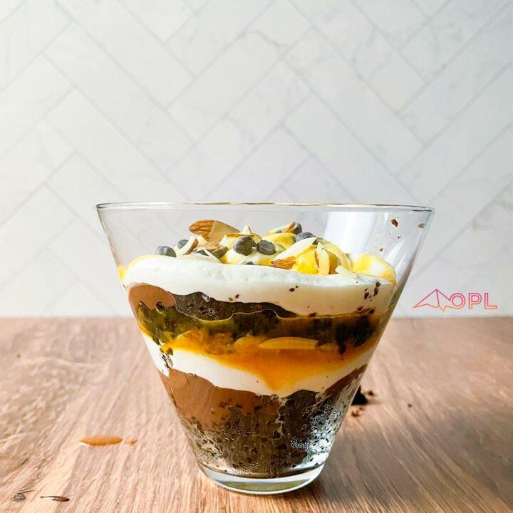Keto Brownie Trifle Cups