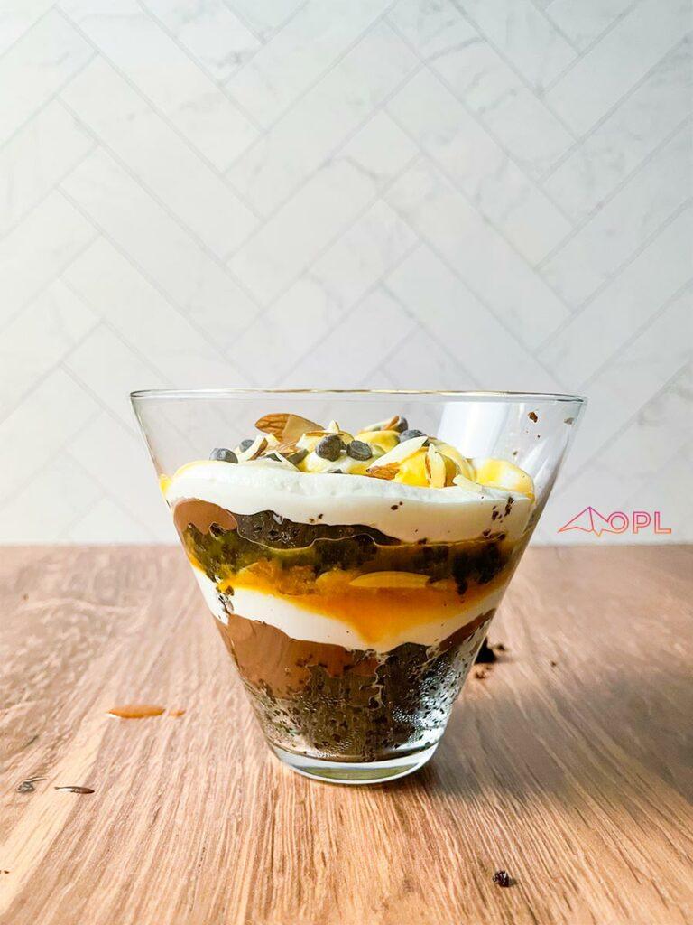 Caramel Brownie Trifle Cups