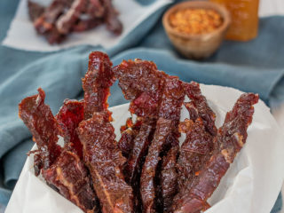 Sweet & Spicy Smoked Beef Jerky