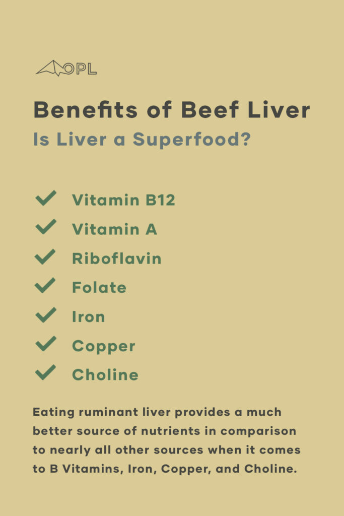 Beef Liver - A list of Nutrients