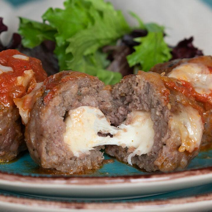 Stuffed Italian Meatballs