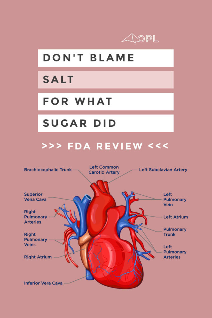 Don't blame salt for what sugar did